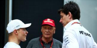 Valtteri Bottas, Niki Lauda, Toto Wolff