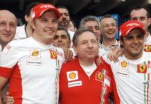 Kimi Raikkonen, Jean Todt, Felipe Massa, Ferrari, Interlagos, 2007