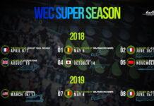 WEC Super Season 2018-2019 Calendar with Fuji race day updated