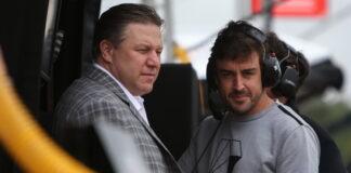 Zak Brown, Fernando Alonso, IndyCar