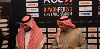 Prince Abdulaziz, Prince Khalid at the draw for the Race Of Champions in Riyadh