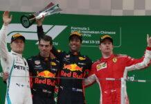 Daniel Ricciardo, Valtteri Bottas, Kimi Raikkonen