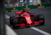 Sebastian Vettel (GER) Scuderia Ferrari. 28.04.2018. Formula 1 World Championship, Rd 4, Azerbaijan Grand Prix, Baku Street Circuit, Azerbaijan, Practice Day. - www.automotorsport.az, EMail: info@automotorsport.az - copy of publication required for printed pictures. Every used picture is fee-liable. © Copyright: automotorsport.az