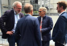Hermann Tilke (and his son) meeting with Lars Seier Christensen and Helge Sander