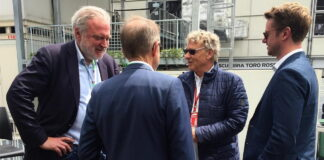 Hermann Tilke (and his son) meeting with Lars Seier Christensen and Helge Sander