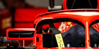 Ferrari Halo cockpit cover wing mirror