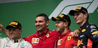 Valtteri Bottas, Sebastian Vettel, Max Verstappen