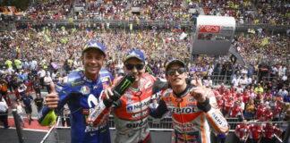 Jorge Lorenzo, Marc Marquez, Valentino Rossi
