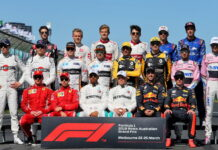 The drivers' start of season group photograph