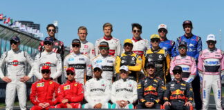 The drivers' start of season group photograph