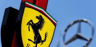 Ferrari and Mercedes logos