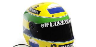 Ayrton Senna, helmet, Bonhams