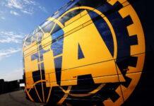FIA truck in the paddock