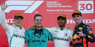Valtteri Bottas, Matt Deane, Lewis Hamilton, Max Verstappen
