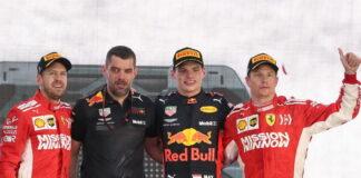 Max Verstappen, Sebastian Vettel, Kimi Raikkonen