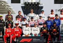 The F1 drivers end of season photograph