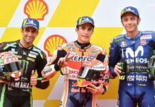Johann Zarco, Marc Marquez, Valentino Rossi