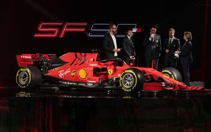 Charles Leclerc, Mattia Binotto, Sebastian Vettel