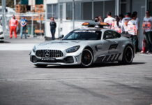 Safety Car. 27.04.2018. Formula 1 World Championship, Rd 4, Azerbaijan Grand Prix, Baku Street Circuit, Azerbaijan, Practice Day. - www.automotorsport.az, EMail: info@automotorsport.az - copy of publication required for printed pictures. Every used picture is fee-liable. © Copyright: automotorsport.az