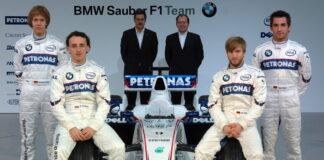 Sebastian Vettel, Robert Kubica, Dr. Mario Theissen, Willy Rampf, Nick Heidfeld, Timo Glock