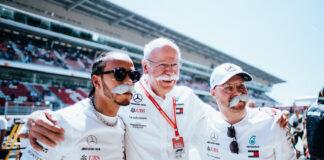 Lewis Hamilton, Dieter Zetsche, Valtteri Bottas