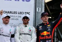 Valtteri Bottas, Lewis Hamilton, Max Verstappen