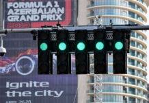 Start lights, Baku City Circuit