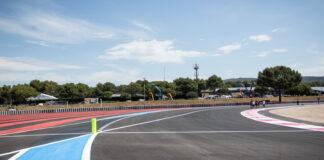 New pit lane entrance, French Grand Prix