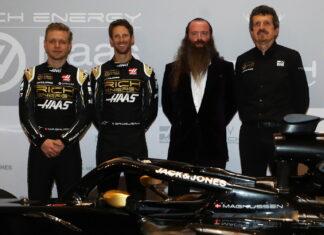 Kevin Magnussen, Romain Grosjean, William Storey, Guenther Steiner