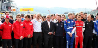 Minute's silence for Anthoine Hubert