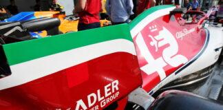Alfa Romeo Racing C38 with Italian themed livery detail