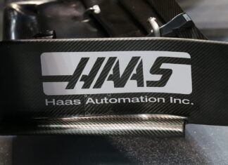 Haas front wing end plate
