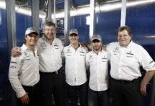 Nico Rosberg, Ross Brawn, Michael Schumacher, Nick Heidfeld, Norbert Haug