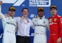 Valtteri Bottas, Lewis Hamilton, Charles Leclerc