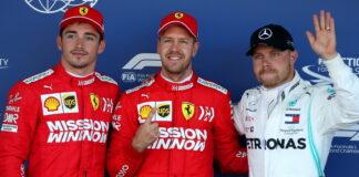 Charles Leclerc, Sebastian Vettel, Valtteri Bottas