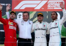 Sebastian Vettel, Valtteri Bottas, Lewis Hamilton