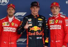 Sebastian Vettel, Max Verstappen, Charles Leclerc