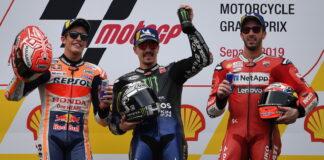 Marc Marquez, Maverick Vinales, Andrea Dovizioso