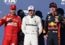 Sebastian Vettel, Valtteri Bottas, Max Verstappen