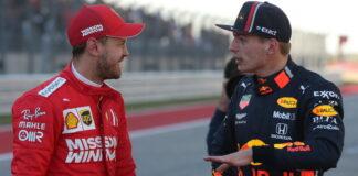 Sebastian Vettel, Max Verstappen