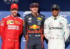 Sebastian Vettel, Max Verstappen, Lewis Hamilton