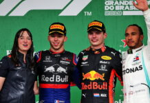 Hannah Schmitz, Pierre Gasly, Max Verstappen, Lewis Hamilton