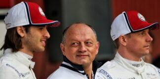 Antonio Giovinazzi, Frederic Vasseur, Kimi Raikkonen