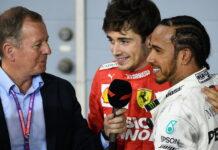 Martin Brundle, Charles Leclerc, Lewis Hamilton