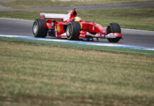 Mick Schumacher in Michael Schumachers F2004 Ferrari - 27.07.2019. Formula 1 World Championship, Rd 11, German Grand Prix, Hockenheim, Germany, Qualifying Day. - www.automotorsport.az, EMail: info@automotorsport.az - copy of publication required for printed pictures. Every used picture is fee-liable. © Copyright: automotorsport.az