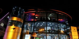 McLaren motorhome at night