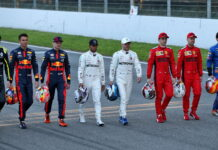 F1 Drivers group photograph