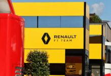 Renault F1 Team motorhome in the paddock