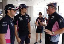 Sergio Perez, Lance Stroll, Otmar Szafnauer