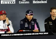 Kimi Raikkonen, Sergio perez, Romain Grosjean